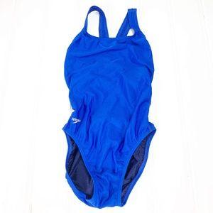 Speedo 8 / 34 Pro LT One Piece Swimsuit Navy Blue